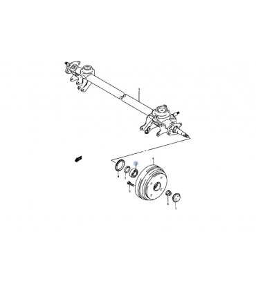 Rodamiento (DAC2552W) rueda trasera JAPON